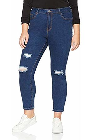 Lost Ink Women's Skinny in Licorice with RIPS Trousers