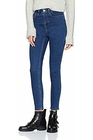 Vila Women's Vicommit Felicia Slim Hw 7/8 V. MBD-noos Jeans, Medium Denim