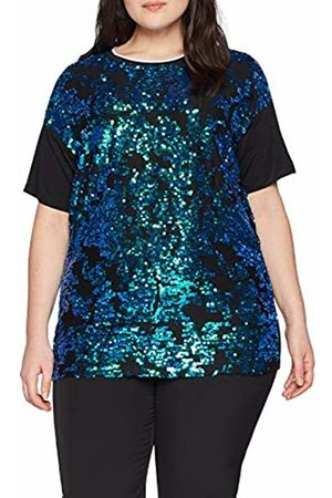 Simply Be Women's All Over Sequin Front Tunic T-Shirt, ( /Metalic )