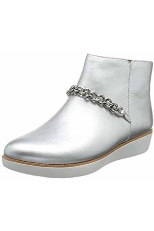 FitFlop Women's PIA Chain Metallic Ankle Boots, ( 011)