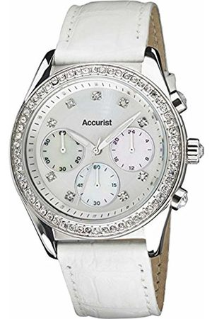 Accurist Women's Quartz Watch with Dial Chronograph Display and Leather Strap LS410W.01