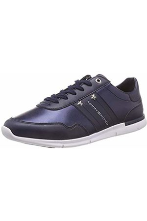 Tommy Hilfiger Women's Tommy Essential Leather Sneaker Low-Top, Navy 406