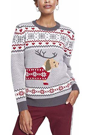 Urban classics Women's Ladies Sausage Dog Christmas Sweater Jumper
