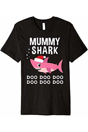 Christmas Shark Family Shirts Mummy Shark Christmas Shirt for Matching Family Pajamas