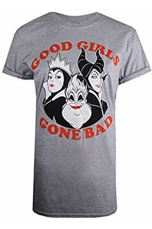 Disney Women's Good Girls Gone Bad Villians T-Shirt, ( Marl SPO)