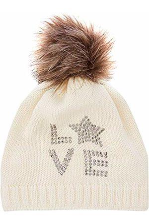 Döll Girls' Pudelmütze Strick Hat, (Snow 1050)