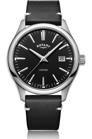 Rotary Watches Oxford Black Stainless Steel Quartz Watch