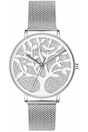 s.Oliver Womens Analogue Quartz Watch with Stainless Steel Strap SO-3595-MQ