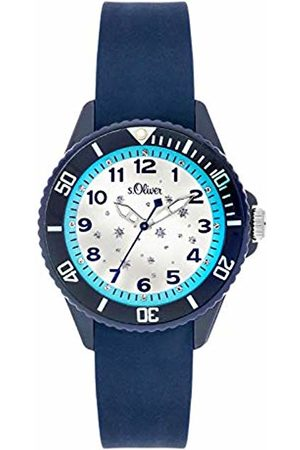 s.Oliver Unisex Child Analogue Quartz Watch with Silicone Strap SO-3634-PQ