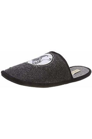 Adelheid Men's Einsamer Wolf Filzpantoffel Open Back Slippers
