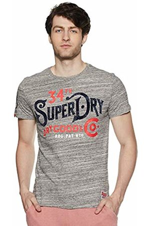 Superdry Men's 34th St Tee Kniited Tank Top, (Alaska Grit Vm2)