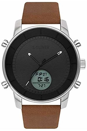 s.Oliver Mens Analogue-Digital Quartz Watch with Leather Strap SO-3619-LD