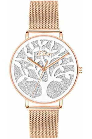 s.Oliver Womens Analogue Quartz Watch with Stainless Steel Strap SO-3596-MQ