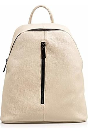 Firenze Artegiani Women Suitcases & Luggage - . Backpack Women Casual Genuine Leather Backpack Bag Genuine Leather Dollaro.Front Pocket. Laptop Backpack Women. Made in Italy. Vera Pelle Italiana. 30x35x14 cm.