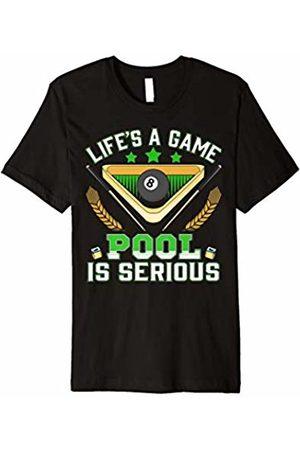 Billiard Billiards Pool Snooker Shirt T-Shirt Tee Pool Billiard Shirt: Life is a Game Pool Is Serious Shirt