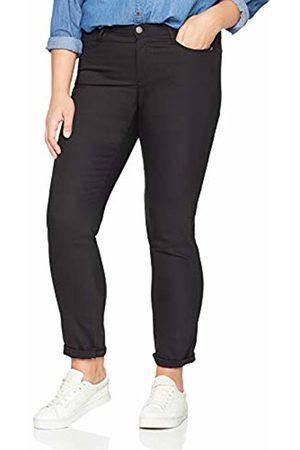 GINA LAURA Women's Hose Julia Ng 5 Pocket Elastisch Trouser, (Schwarz)