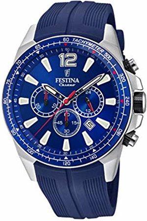 Festina Mens Chronograph Quartz Watch with PU Strap F20376/1
