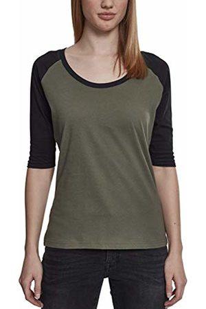 Urban classics Women's Ladies 3/4 Contrast Raglan Tee T-Shirt