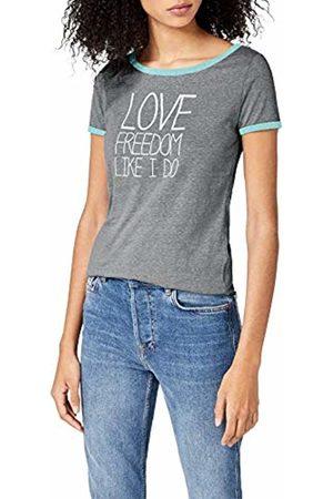 Intimuse Women's T-Shirt with Print, (Dunkelgrau Melange)