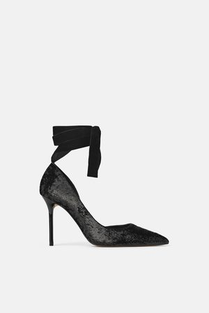 Zara SHIMMER-EFFECT HIGH-HEEL SHOES