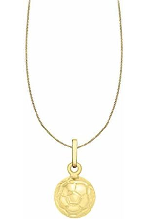 Carissima Gold 9ct Gold Football Pendant on Curb Chain Necklace of 46cm/18""