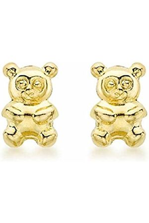 Carissima Gold Women's 9 ct 3.9 x 5.9 mm Teddy Bear Stud Earrings