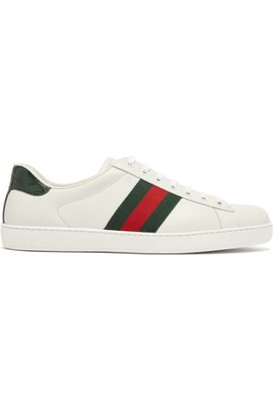 Gucci Ace Leather Trainers - Mens