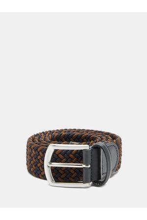 Anderson's Men Belts - Woven Elasticated Belt - Mens - Navy/dk Olive