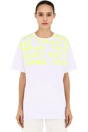 Maison Margiela Oversize Printed Cotton Jersey T-shirt