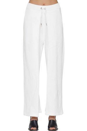 AALTO Pleated Cotton Sweatpants W/ Drawstring