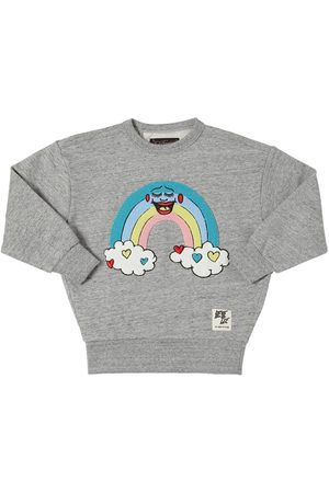 Finger in the Nose Cotton Sweatshirt W/rainbow Patch