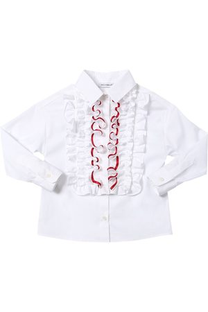 Dolce & Gabbana Stretch Cotton Blend Poplin Shirt