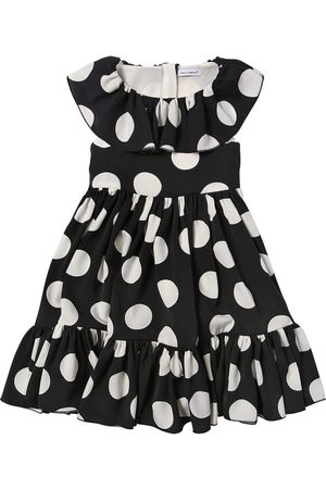 Dolce & Gabbana Dot Print Silk Blend Dress