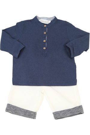 OPILILAI Cotton Linen Blend Shirt & Pants