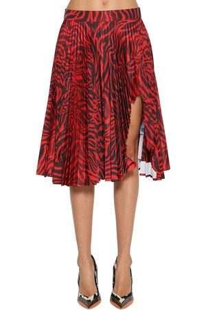 Calvin Klein Shark Attacked Pleated Taffeta Skirt