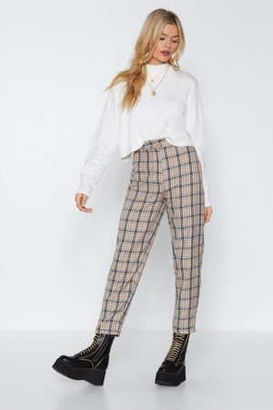 NASTY GAL Womens Let's Take a Rain Check Tapered Trousers - - 10