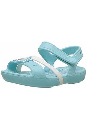 Crocs Girls' Lina Frozen Sandal Kids Open-Toe (Ice )