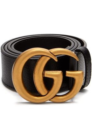 Gucci - Gg Textured Leather Belt - Mens