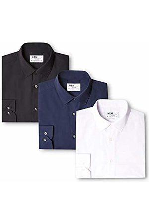 Hem & Seam Men's 3 Regular Fit Solid Formal Shirt