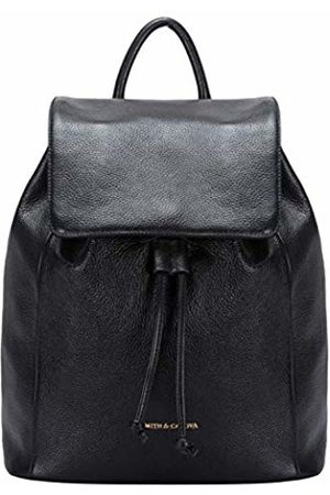 Smith & Canova Womens Flapover Drawstring Backpack Backpack