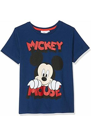 Disney Mickey Mouse Boy's Smiling Face T-Shirt (Navy)