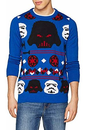 DC Men's KNI-Star Wars Christmas Empire Knit Jumper, (Royal 005)