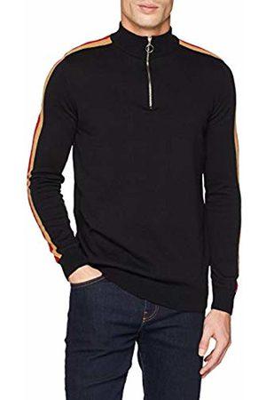 New Look Men's Side Stripe Half Zip5948178 Jumper
