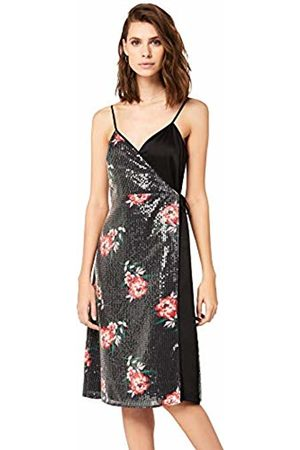 TRUTH & FABLE Women Casual Dresses - Sequin Satin Mix Slip Dress Party