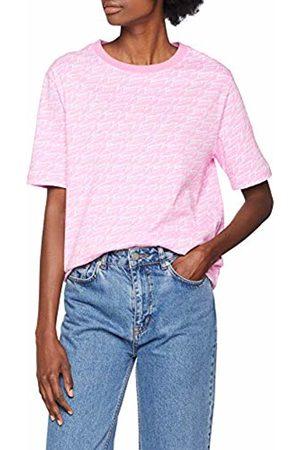 Tommy Hilfiger Women's Signature Aop Short Sleeve T-Shirt