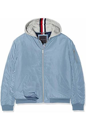 Tommy Hilfiger Boy's Essential Hooded Bomber Jacket, (Coronet 418)