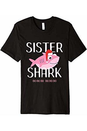 Christmas Shark Shirts by LGN Sister Shark Christmas Shirt for Matching Family Pajamas