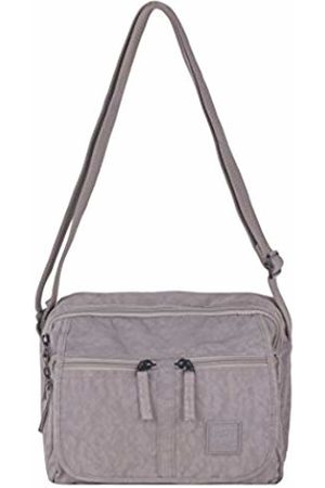 Art Sac Artsac Womens Twin Sectioned Front Pocketed Bag Cross-Body Bag (Ltgrey)