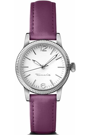 Tamaris Elli Women's Quartz Watch with Silver Dial Analogue Display and Leather Strap