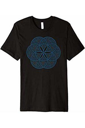 Seed of life Yoga Sadhaka Clothing Men T-shirts - Seed of life yoga sadhaka stylish yoga class t-shirt